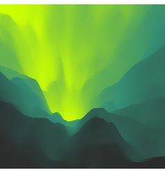 Mountain landscape mountainous terrain background vector