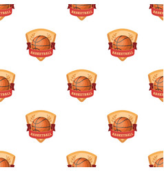 basketball emblembasketball pattern icon in vector image