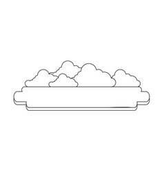 blank banner with clouds vector image
