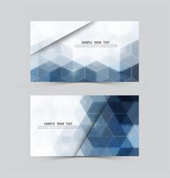 blue hexagonabstract backgroundset of banners vector image vector image