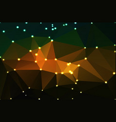 brown orange green geometric background with vector image