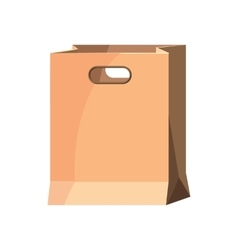 Brown paper bag icon cartoon style vector