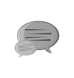 Bubble speech icon black monochrome style vector image vector image