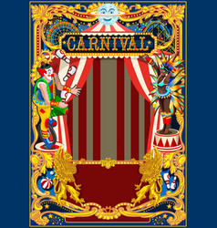 Carnival poster circus theme vector