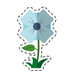 cartoon flower romantic natural icon vector image