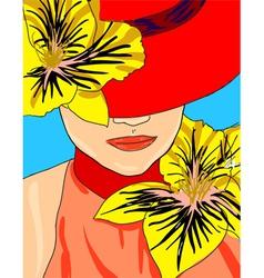 Chic Fashion Model vector image