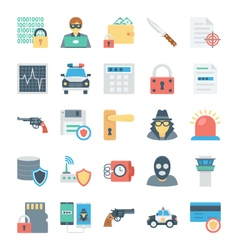 Crime and security icons 3 vector