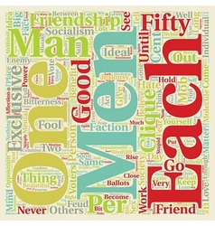 Exclusive friendships text background wordcloud vector