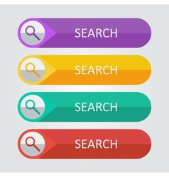 Flat buttons search vector