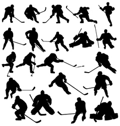 Ice hockey players vector image vector image