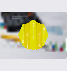 infographic template with octagon vertically vector image vector image
