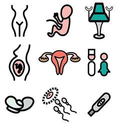 logo icons gynecology vector image vector image