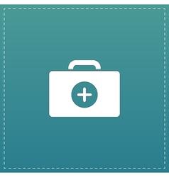 Medical box modern flat icon vector