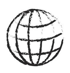 monochrome blurred silhouette of world globe icon vector image vector image