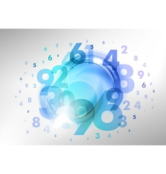 Numbers blue vector