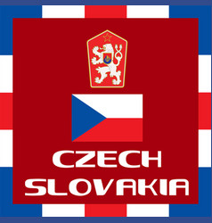 official government ensigns of czech slovakia vector image