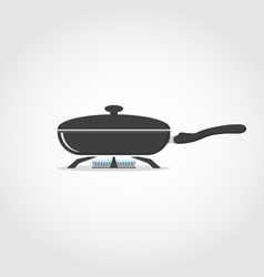 Pan on fire vector