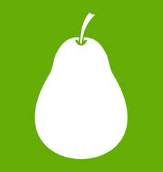 pear icon green vector image
