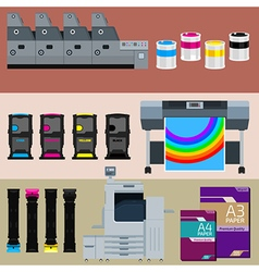 Polygraphic set vector image