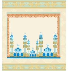 Ramadan kareem festival frame vector