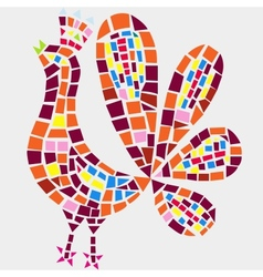 Rooster mosaic vector