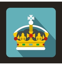 Royal crown icon flat style vector