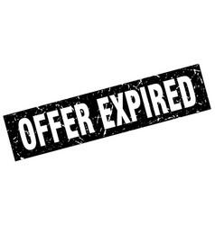 square grunge black offer expired stamp vector image