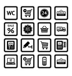 Supermarket services vector