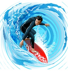 The Surfer vector image vector image