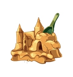 sand castle with shovel vector image