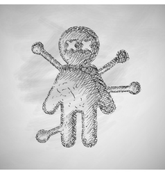 Voodoo doll icon vector