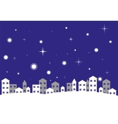 City Night Winter Landscape vector image
