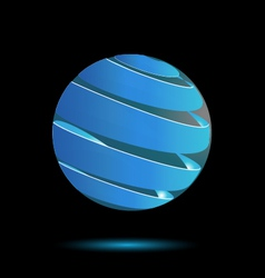 Abstract blue bubble 3d logo design vector image