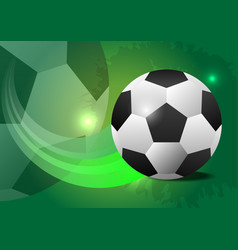 Creative soccer design ball concept vector