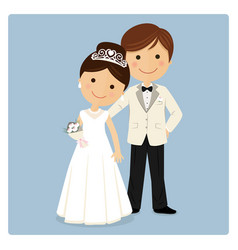 Princely style couple on blue background vector
