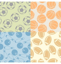 Seamless patterns of sport icons vector