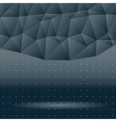 dark background of triangles in space vector image