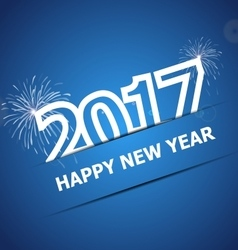 2017 happy new year on dark blue background vector