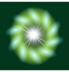 Abstract green background lighting swirl flare vector