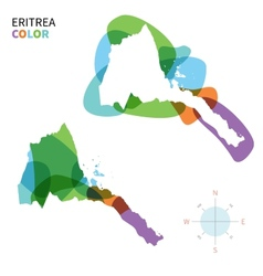 Abstract color map of eritrea vector