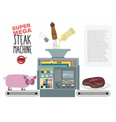 Super mega steak machine manufacturing system for vector