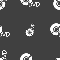Dvd icon sign seamless pattern on a gray vector