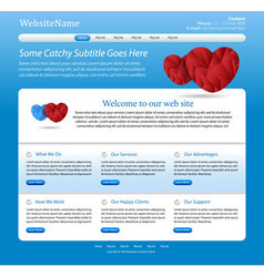 Website medical template vector