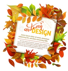 Bright fall background vector