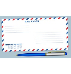 Envelope and pen vector image