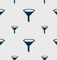 Funnel icon sign seamless pattern with geometric vector