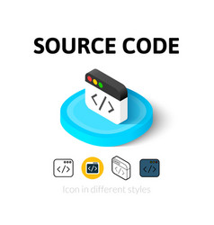Source code icon in different style vector