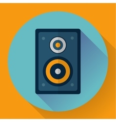 Flat audio music and media speaker icon vector