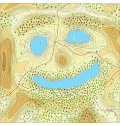 Smiley lakes vector
