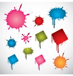 Colorful ink spots vector